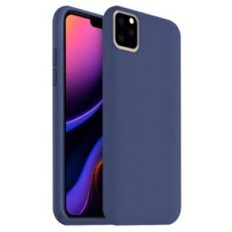"""Tamsiai mėlynas silikoninis dėklas Apple iPhone 11 Pro telefonui """"Rubber TPU"""""""