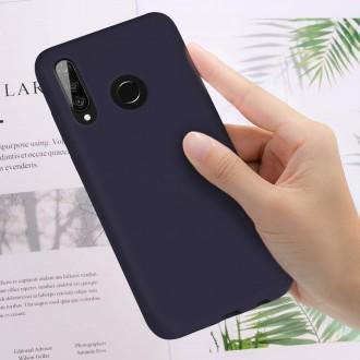 """Tamsiai mėlynas silikoninis dėklas Huawei P30 Lite telefonui Mercury Goospery """"Soft Jelly Case"""""""
