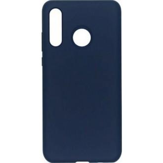 "Tamsiai mėlynas silikoninis dėklas Huawei P40 Lite E / Y7P telefonui ""Mercury Soft Feeling"""