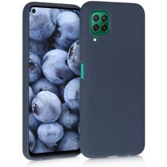 """Tamsiai mėlynas silikoninis dėklas Huawei P40 Lite telefonui """"Liquid Silicone"""" 1.5mm"""