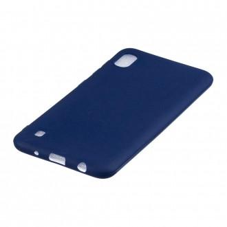 "Tamsiai mėlynas silikoninis dėklas Samsung Galaxy A105 A10 telefonui ""Mercury Soft Feeling"""