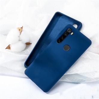 "Tamsiai mėlynas silikoninis dėklas Samsung Galaxy A21 telefonui ""Liquid Silicone"" 1.5mm"