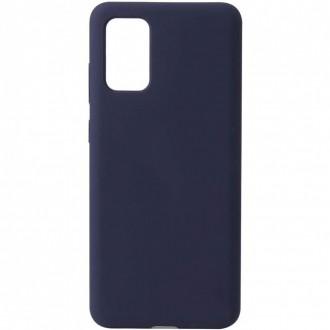 "Tamsiai mėlynas silikoninis dėklas Samsung Galaxy A515 A51 telefonui ""Mercury Soft Feeling"""