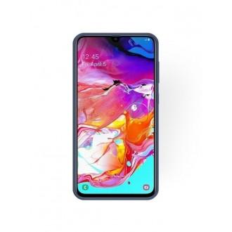 """Tamsiai mėlynas silikoninis dėklas Samsung Galaxy A705 A70 telefonui """"Rubber TPU"""""""