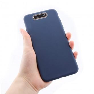"Tamsiai mėlynas silikoninis dėklas Samsung Galaxy A805 A80 telefonui ""Mercury Soft Feeling"""