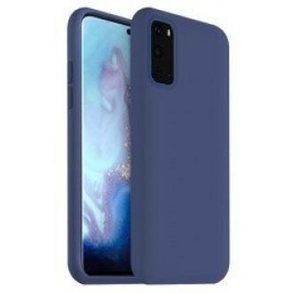 """Tamsiai mėlynas silikoninis dėklas Samsung Galaxy G981 S20 telefonui """"Liquid Silicone"""" 1.5mm"""