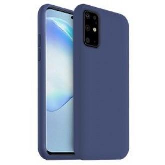 """Tamsiai mėlynas silikoninis dėklas Samsung Galaxy G986 S20 Plus telefonui """"Liquid Silicone"""" 1.5mm"""
