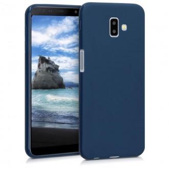 """Tamsiai mėlynas silikoninis dėklas Samsung Galaxy J610 J6 Plus 2018 telefonui """"Spigen TPU Case"""""""
