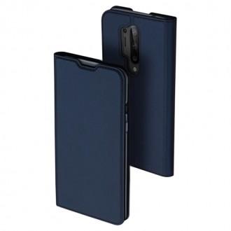 """Tamsiai mėlynas spalvos atverčiamas dėklas Oneplus 8 Pro telefonui """"Dux Ducis Skin"""""""