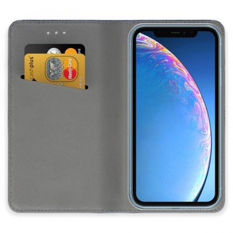 """Tamsiai mėlynos spalvos atverčiamas dėklas Apple iPhone 11 telefonui """"Smart Magnet"""""""