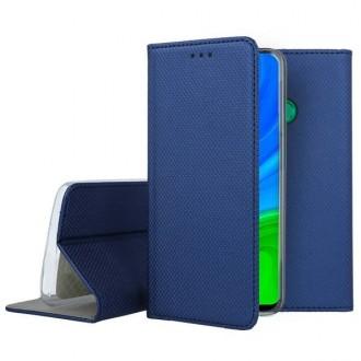 """Tamsiai mėlynos spalvos atverčiamas dėklas Huawei P Smart 2020 telefonui """"Smart Magnet"""""""