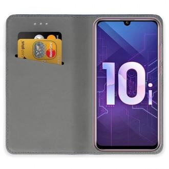 """Tamsiai mėlynos spalvos atverčiamas dėklas Huawei P Smart Plus 2019 / Honor 10i telefonui """"Smart Magnet"""""""