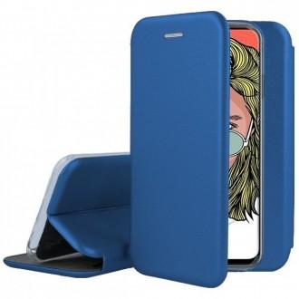 """Tamsiai mėlynos spalvos atverčiamas dėklas Huawei P Smart Pro 2019 / Honor Y9s telefonui """"Book elegance"""""""