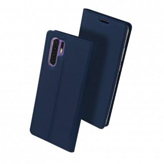 """Tamsiai mėlynos spalvos atverčiamas dėklas Huawei P30 Pro telefonui """"Dux Ducis Skin"""""""