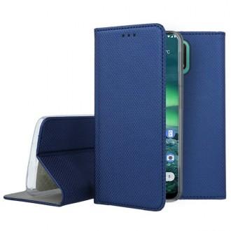 """Tamsiai mėlynos spalvos atverčiamas dėklas Nokia 2.3 telefonui """"Smart Magnet"""""""