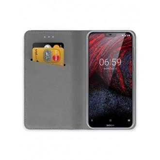 """Tamsiai mėlynos spalvos atverčiamas dėklas Nokia 6.1 Plus X6 2018 telefonui """"Smart Magnet"""""""