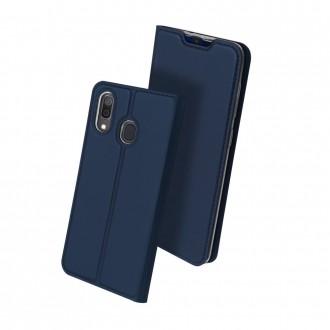 """Tamsiai mėlynos spalvos atverčiamas dėklas Samsung A202 A20e telefonui """"Dux Ducis Skin"""""""