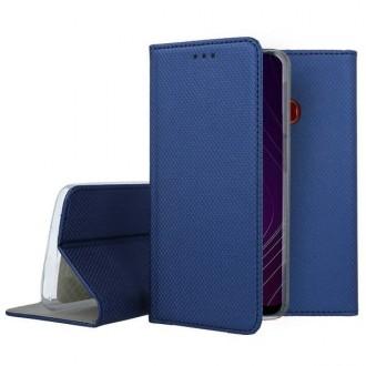 """Tamsiai mėlynos spalvos atverčiamas dėklas Samsung Galaxy A20s telefonui """"Smart Magnet"""""""