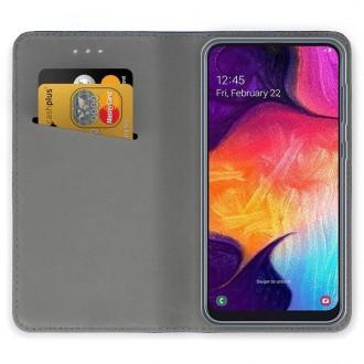 """Tamsiai mėlynos spalvos atverčiamas dėklas Samsung Galaxy A505 A50 / A507 A50s / A307 A30s telefonui """"Smart Magnet"""""""