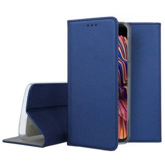 """Tamsiai mėlynos spalvos atverčiamas dėklas Samsung Galaxy G715 Xcover Pro telefonui """"Smart Magnet"""""""