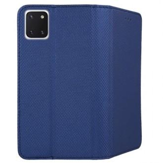 """Tamsiai mėlynos spalvos atverčiamas dėklas Samsung Galaxy Note 10 Lite / A81 telefonui """"Smart Magnet"""""""