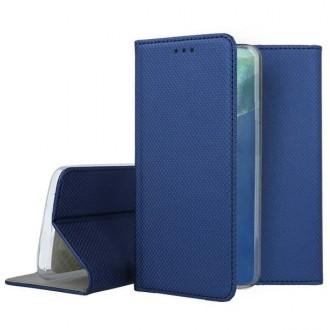 """Tamsiai mėlynos spalvos atverčiamas dėklas Samsung Galaxy Note 20 telefonui """"Smart Magnet"""""""