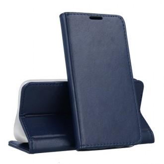 """Tamsiai mėlynos spalvos atverčiamas dėklas """"Magnetic book"""" telefonui Huawei P40 Lite E"""