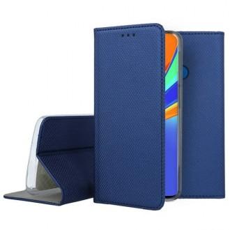 """Tamsiai mėlynos spalvos atverčiamas dėklas Xiaomi Redmi 9C telefonui """"Smart Magnet"""""""