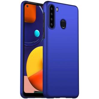 Tamsiai mėlynos spalvos dėklas X-Level Dynamic Samsung Galaxy A21 telefonui