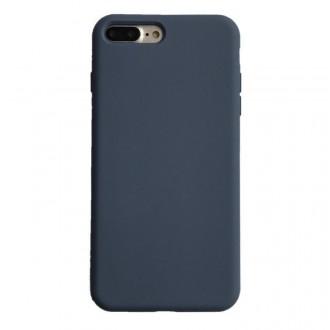 """Tamsiai mėlynos spalvos silikoninis dėklas Apple iPhone 12 telefonui """"Liquid Silicone"""" 1.5mm"""