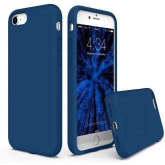 """Tamsiai mėlynos spalvos silikoninis dėklas Apple iPhone 7 / 8 / SE2 telefonui """"Liquid Silicone"""" 1.5mm"""