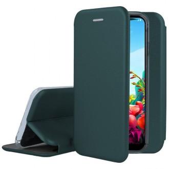 """Tamsiai žalias atverčiamas dėklas LG K40S telefonui """"Book Elegance"""""""