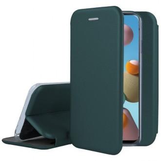 """Tamsiai žalias atverčiamas dėklas Samsung Galaxy A41 telefonui """"Book Elegance"""""""