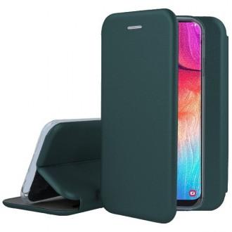 """Tamsiai žalios spalvos atverčiamas dėklas Samsung Galaxy A515 A51 telefonui """"Book Elegance"""""""