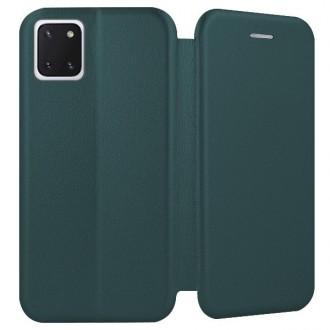 """Tamsiai žalios spalvos atverčiamas dėklas Samsung Galaxy Note 10 Lite / A81 telefonui """"Book Elegance"""""""