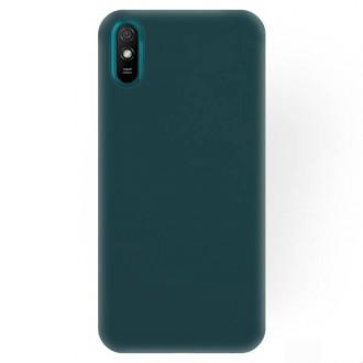 """Tamsiai žalios spalvos silikoninis dėklas Xiaomi Redmi 9A / 9AT telefonui """"Rubber TPU"""""""