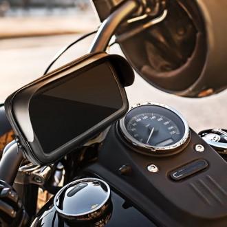 Universalus telefono laikiklis, motociklui, atsparus vandeniui. Dydis 5,5-6,3cm.