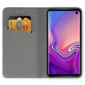 """Juodos spalvos atverčiamas dėklas """"Smart Magnet"""" telefonui Samsung A32 A325"""
