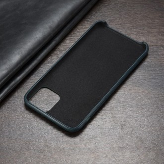Juodas dirbtinės odos dėklas telefonui Iphone 12 Mini