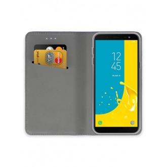 """Violetinis atverčiamas dėklas Samsung Galaxy J600 J6 2018 telefonui """"Smart Magnet"""""""
