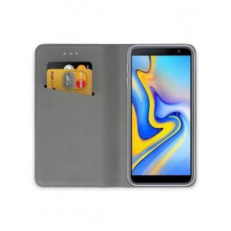 """Violetinis atverčiamas dėklas Samsung Galaxy J610 J6 Plus 2018 telefonui """"Smart Magnet"""""""