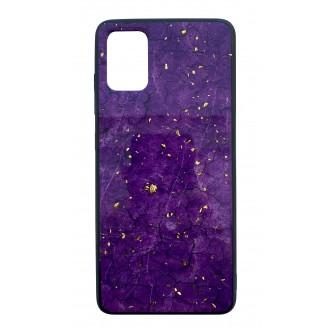 """Violetinis dėklas """"Marble"""" Samsung Galaxy G986 S20 Plus telefonui"""