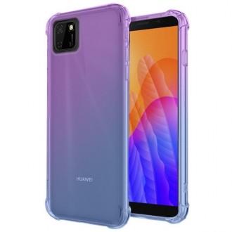 """Violetinis-mėlynas dėklas Huawei Y5P telefonui """"Antishock Gradient """""""