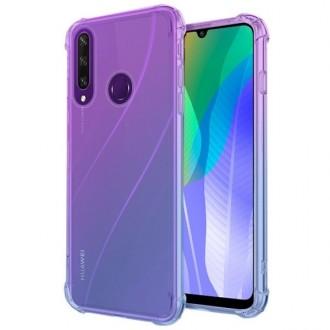 """Violetinis-mėlynas dėklas Huawei Y6P telefonui """"Antishock Gradient """""""