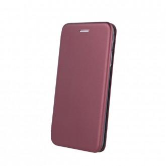 """Vyno raudonos spalvos atverčiamas dėklas Huawei P30 Lite telefonui """"Book Elegance"""""""