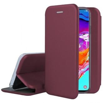 """Vyno raudonos spalvos atverčiamas dėklas Samsung Galaxy A405 A40 telefonui """"Book Elegance"""""""