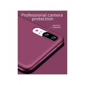 Vyno raudonos spalvos dėklas X-Level Guardian Huawei P20 telefonui