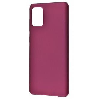 Vyno spalvos dėklas X-Level Guardian Samsung Galaxy A715 A71 telefonui