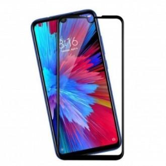"5D Juodas apsauginis stikliukas ""5D Full Glue HQ Quality"" Xiaomi Redmi 7 telefonui"