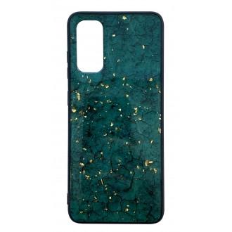 """Žalias dėklas """"Marble"""" Samsung Galaxy G986 S20 Plus telefonui"""